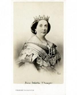 Portrait d'une femme couronnée (Isabelle II reine d'Espagne)