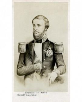 Portrait d'un homme barbu en uniforme (empereur du Brésil Pedro II)