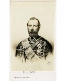 Portrait d'un homme barbu en uniforme (roi de Suéde Oscar Ier)