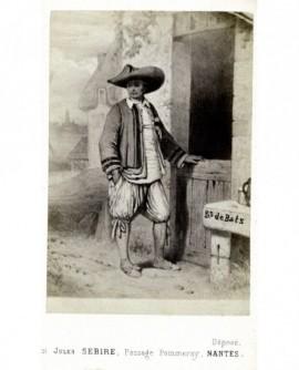 Gravure: paysan-pêcheur de Batz (presqu\'ile de Guérande)