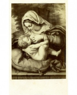 Peinture religieuse: La vierge au coussin vert (A. Solario)