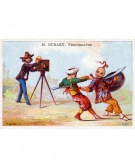 Carte publicitaire en couleurs du photographe H. Dubary