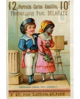 Carte publicitaire du photographe Paul Delahaye