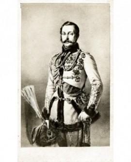 Portrait d'un souverain moustachu