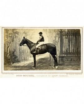 Cheval et jockey: Bois-Roussel, vainqueur du derby français