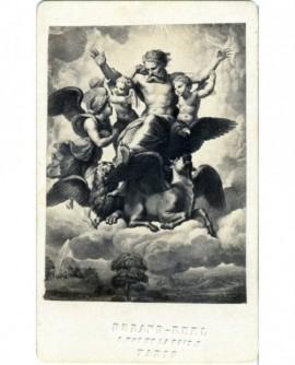 """Peinture. """"La vision d\'Ezéchiel"""" de Raphael"""