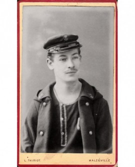 Portrait de marinier en casquette (éclusier sur la Moselle?)