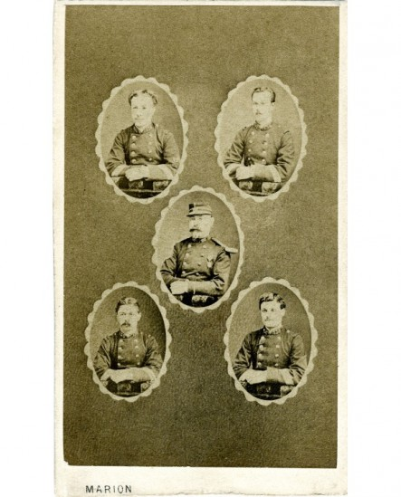 Mosaïque officiers: Garnier, Von-der Heyden, Bonnaure, Gouvignon, Marion