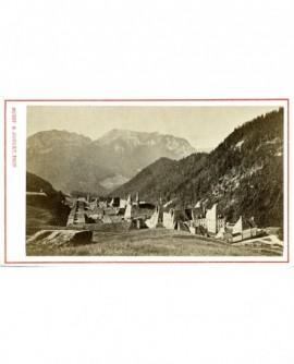 Paysage de montagne et couvent de la Grande Chartreuse