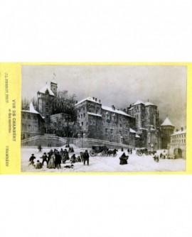 Vue animée de Chambéry en hiver