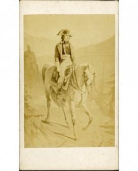 Peinture Bonaparte à cheval descendant du Grand Saint-Bernard