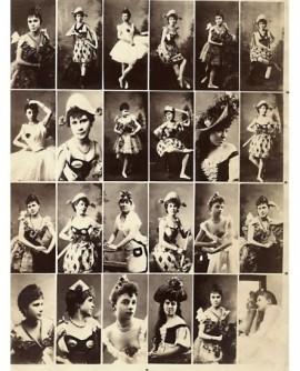 Planche de portraits d\'actrices en mignonettes