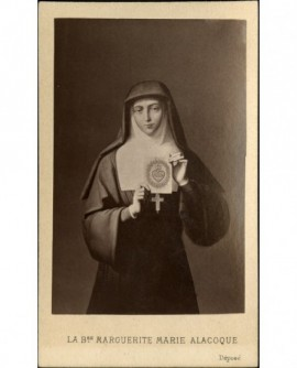 La b(ienheureu)se Marguerite-Marie Alacoque (gravure)