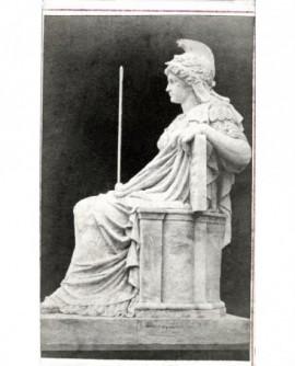 Statue d'Athena casquée