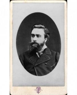 Portrait en médaillon d'homme barbu