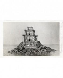 Le Mont Saint-Michel au XVIIè, gravure
