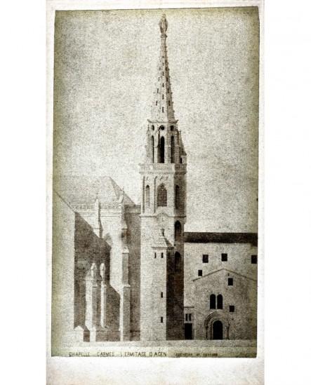 Chapelle des Carmes. L'Ermitage d'Agen (extérieur)