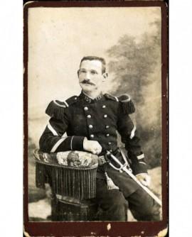 Militaire (sergent) du 159è avec sabre