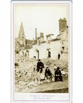 Ruines de Chateaudun (18 octobre 1870)