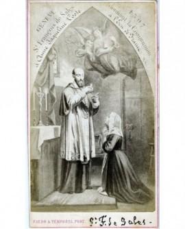 Saint-François de Sales donnant la communion à une pénitente
