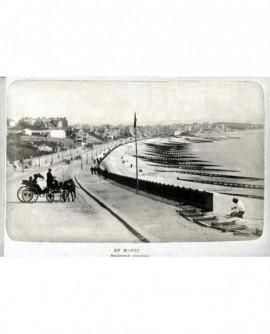 Vue persperctive du boulevard Maritime au Havre (avec calèche au second plan)