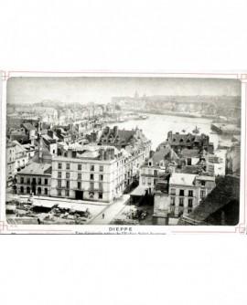 Vue du port de Dieppe, prise de l'église St Jacques