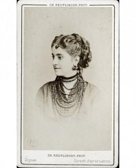 Portrait de la cantatrice Adelina Patti