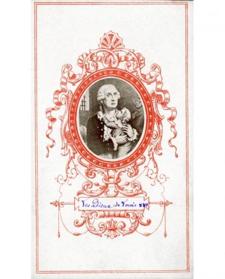 Portrait en médaillon des adieux de Louis XVI à son fils
