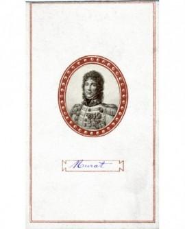 Portrait en médaillon du général Murat