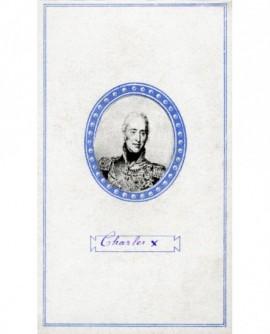 Portrait en médaillon de Charles X