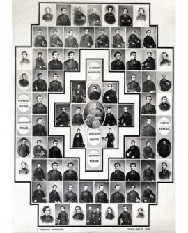 Mosaïque d'ecclésiastiques (lyonnais) autour de Pie IX