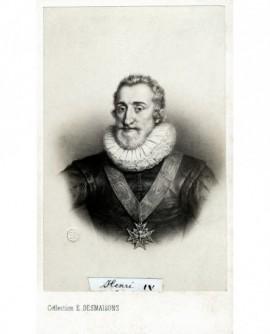 Portrait du roi Henri IV, portant le grand collier de l'ordre du St Esprit