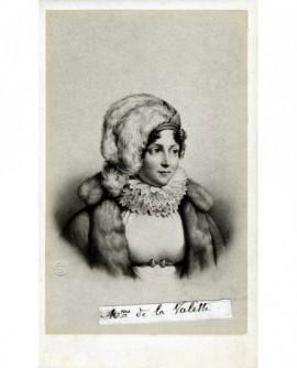 Portrait de Mme de Lavalette (avec toque de fourrure)