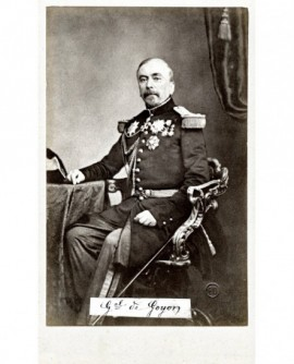 Portrait du général comte de Goyon assis
