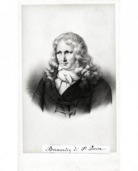 Portrait de l'écrivain Bernardin de Saint-Pierre