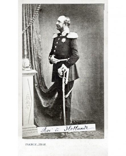 Roi de Hollande debout de profil