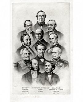 Mosaïque: Portraits du ministère de 1863