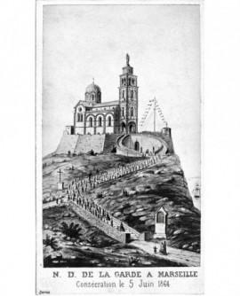 Vue de la consécration de l'église Notre-Dame de la Garde à Marseille