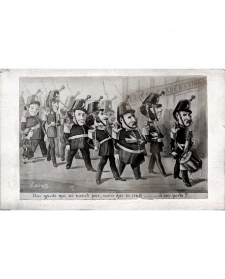 Caricature de Lavrate contre la garde impériale de 1870