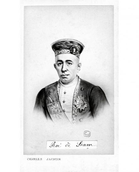 Homme en uniforme et toque. roi de Siam Rama IV Mongkut
