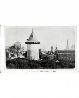 Vue extérieure de la tour Pigot ou tour Jeanne d\'Arc à Rouen
