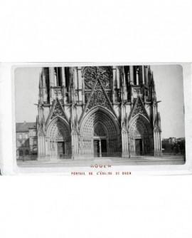 Vue extérieure du portail de l'abbatiale Saint-Ouen à Rouen.