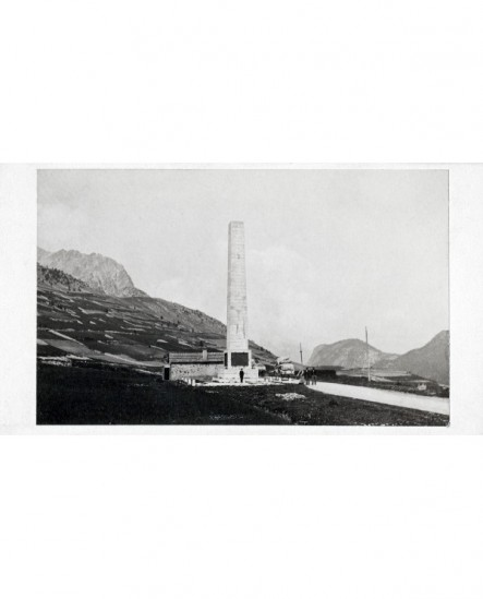 Monument construction de la route du Mont-Genévre (Htes Alpes)