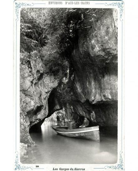 Vue des Gorges du Sierroz, explorées en bateau