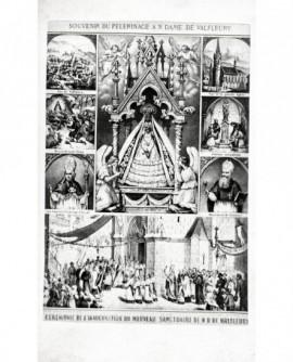 gravure commérative l'inauguration sanctuaire de Valfleury (Loire)
