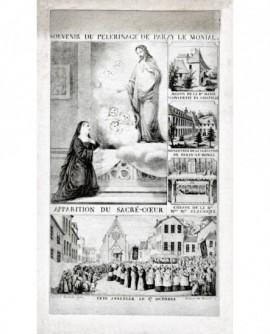 gravure: Souvenir de pélerinage à Paray-le-Monial