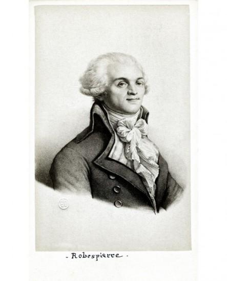 Portrait lithographié de Robespierre