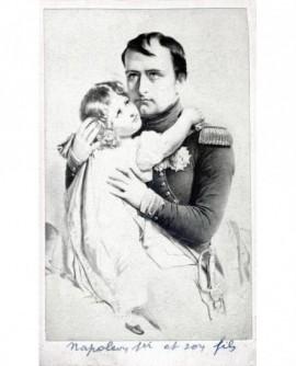 Gravure: Napoléon 1er et son fils le roi de Rome