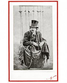 autoportrait de Nadar dans son ballon (Tournachon) nacelle. 2éme version