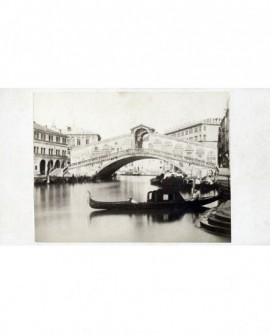 Vue de Venise : le pont du Rialto sur le Grand Canal